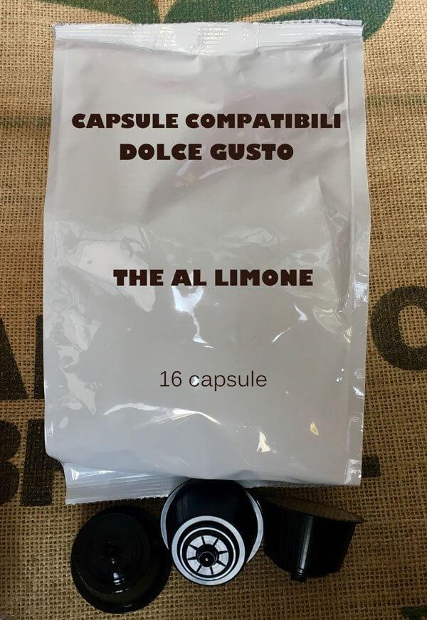 16 Capsule Dolce Gusto Compatibili Nescafè The al Limone