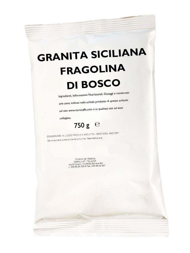 Granita Siciliana alla Fragolina di Bosco Toro Senza Glutine
